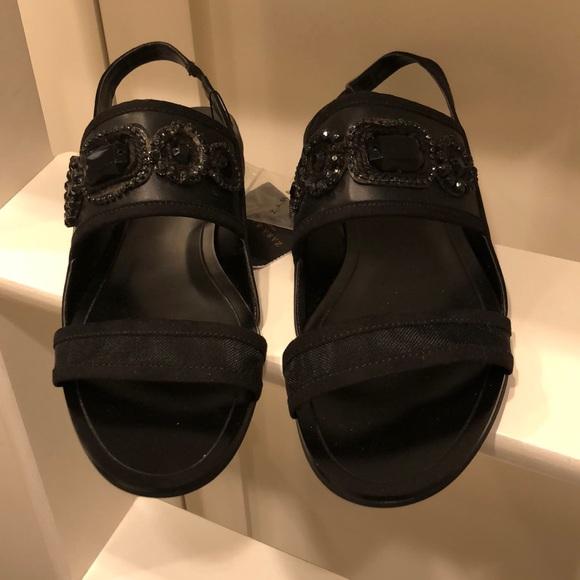 Marni-Style Black Embellished Sandals 39